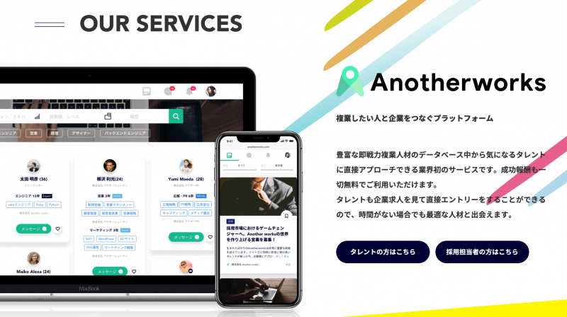 Anotherworksホームページ